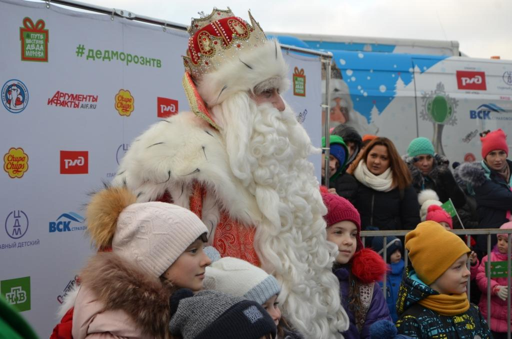 Дед Мороз поздравил горожан с наступающими праздниками