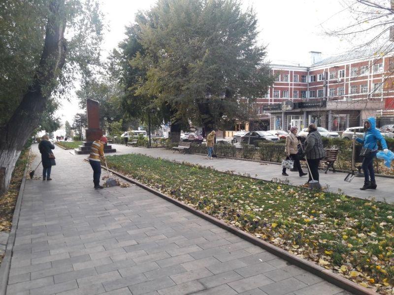 В Волжском районе ведутся благоустроительные работы