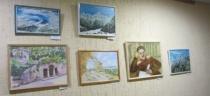 В Центральной городской библиотеке работает выставка картин «Пушкинъ&Лермонтовъ»