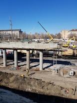 Работы по реконструкции Трофимовского моста идут согласно графику