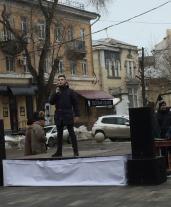 В Саратове на ул. Волжской прошли литературные чтения и концертная программа