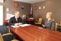Во время приема граждан Вячеслав Сомов рассказал о плотности населения в Саратовской области