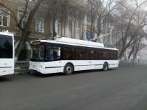 Новые троллейбусы вышли на маршрут №1