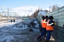 В целях безопасности закрыт несанкционированный проход через железнодорожные пути на станции Трофимовский-1
