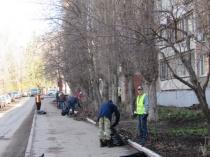 Ежедневно на территории Октябрьского района проводятся работы по благоустройству