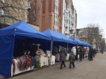 На ул. Волжской сегодня продолжила работу тематическая ярмарка товаров народных промыслов